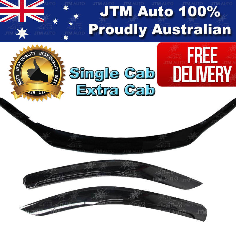 Single Cab Bonnet Protector & Weather Shields to suit TOYOTA Hilux 2015-2018