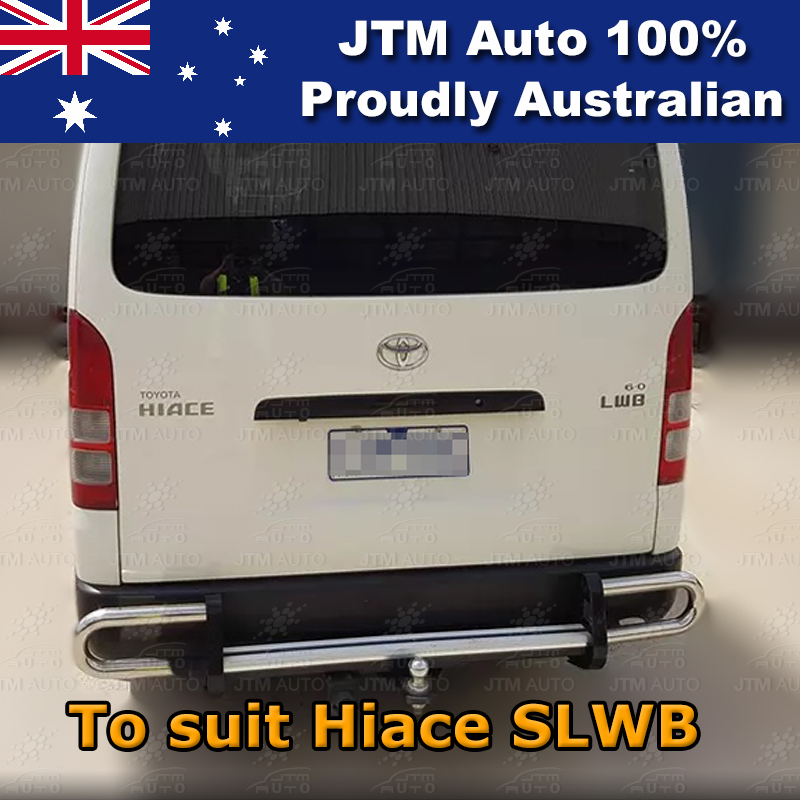 Rear Step Bumper TOWBAR Tow Bar OEM Suitable For Toyota Hiace SLWB OEM 2005-2019