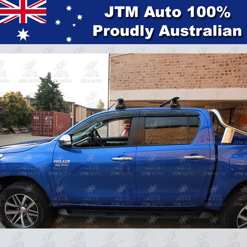 Premium Weathershields weather shield window visor tosuit Toyota Hilux 2015-2018