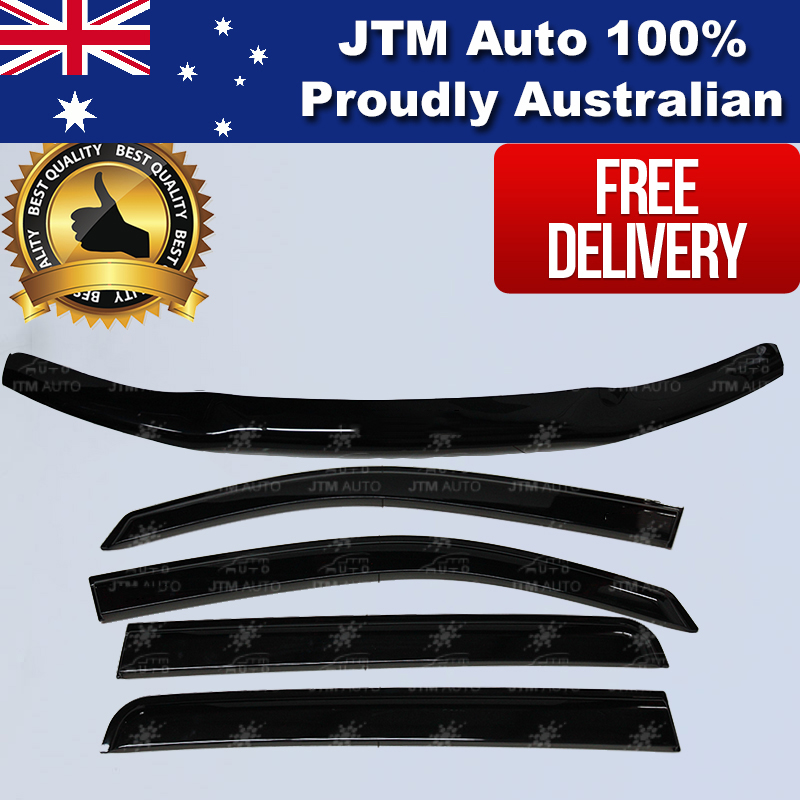 Bonnet Protector + Window Visor Weather Shield to suit Toyota Hilux 2012-2015
