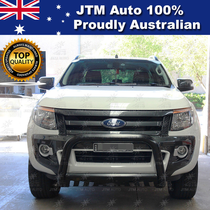 Matt Black Nudge Bar 3 Inch Grille Guard to suit Ford Ranger T6 T7 PX 2012-2018