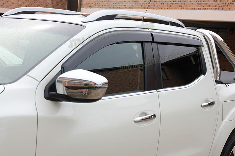 Set of 4 Window Visors Weather Shield to suit Nissan Navara NP300 D23 2015-2019