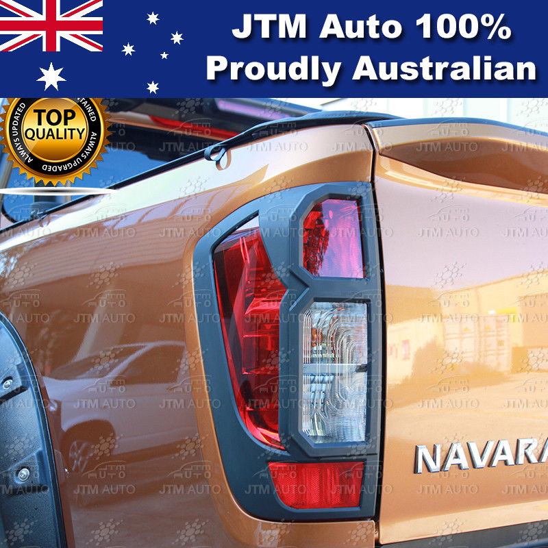 MATT Black Tail Light Cover Protector to suit Nissan Navara NP300 D23 2014-2019