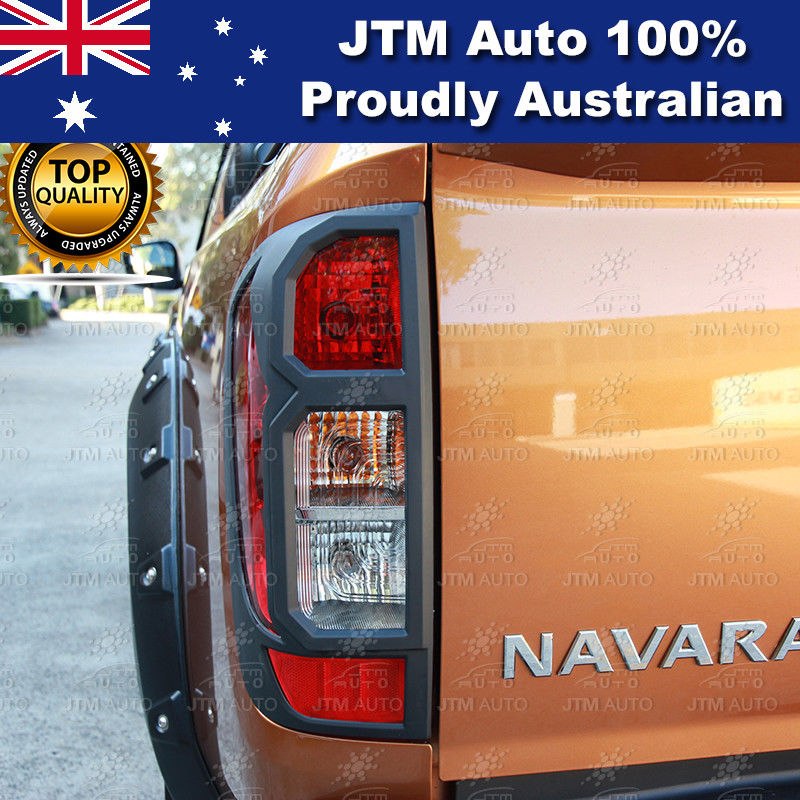 MATT Black Tail Light Cover Protector to suit Nissan Navara NP300 D23 2014-2019