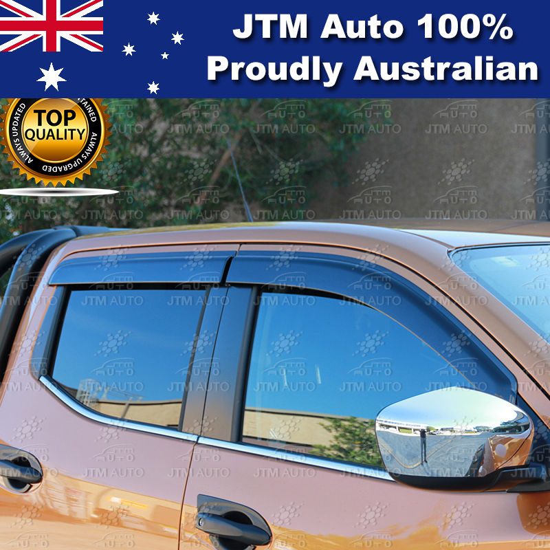 Weathershield Window Visor Weather Shield For Nissan Navara NP300 D23 2014-2018