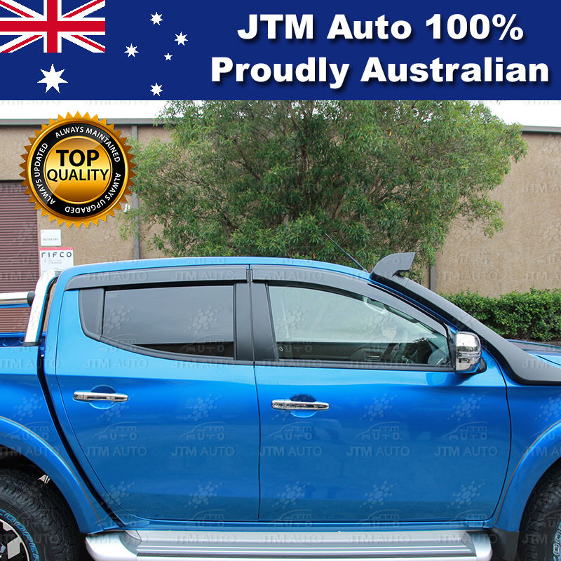 Weather Shields Window Visors to suit Mitsubishi Triton MR 2019+
