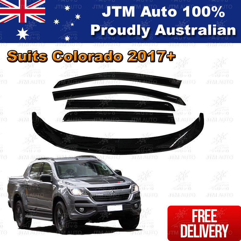 Bonnet Protector + Weather Shields Visor suit Holden Colorado Dual Cab 2016-2019