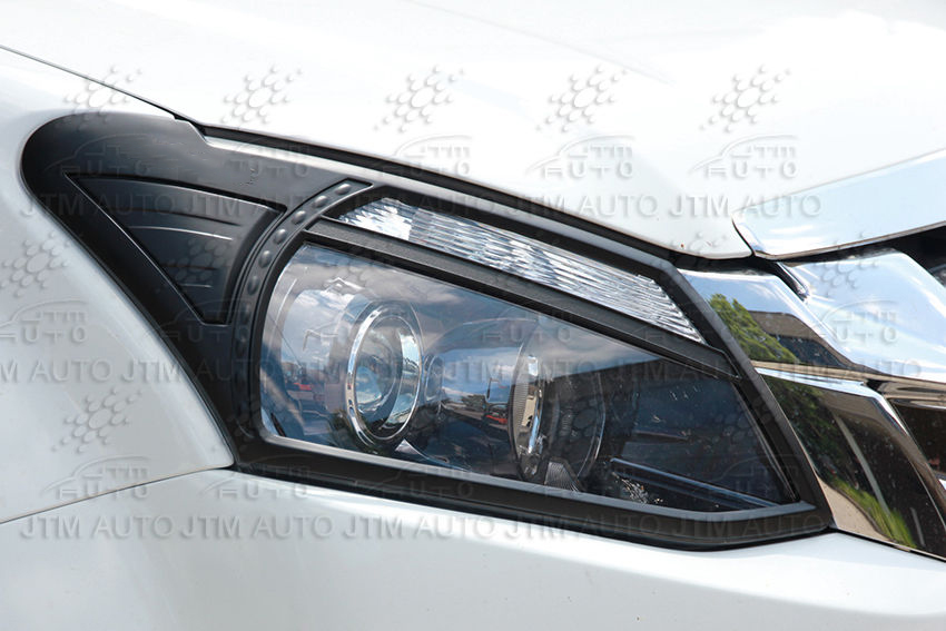 Black Head Light Cover Tail Light Cover to suit Isuzu D-max DMAX 2012-2016