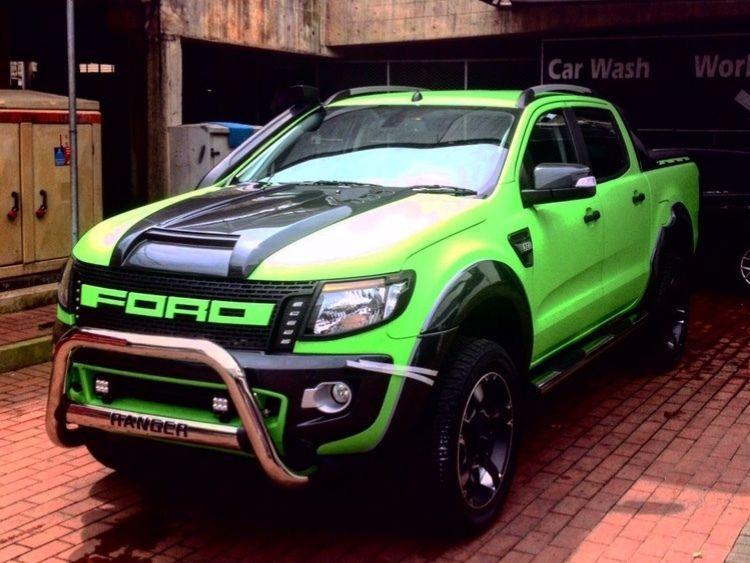 Matt Black Bonnet Scoop Hood Raptor Style to suit Ford Ranger PX1 T6 2012-2015