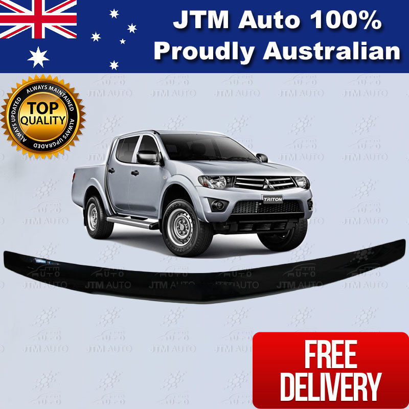 Bonnet Protector Tinted Guard Use For 2006-2015 Mitsubishi Triton MN ML