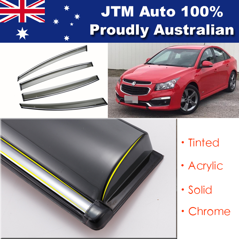 INJ Chrome Weather Shield Weathershield Window Visor For Holden Cruze 2009-2018