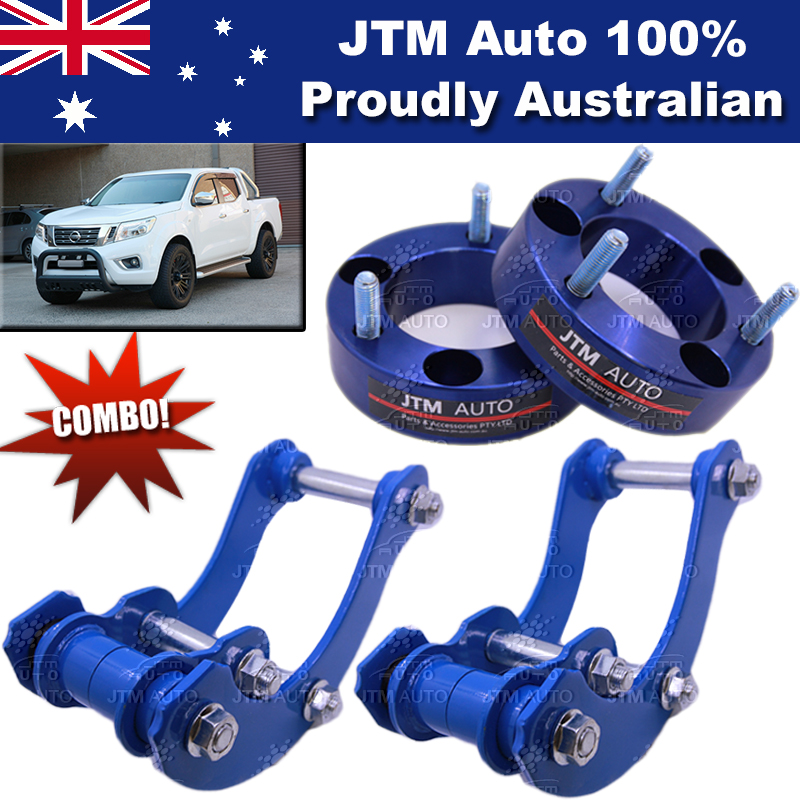 Lift Kit Strut Front Spacers + Rear G-Shackle to suit Nissan Navara NP300 14-18