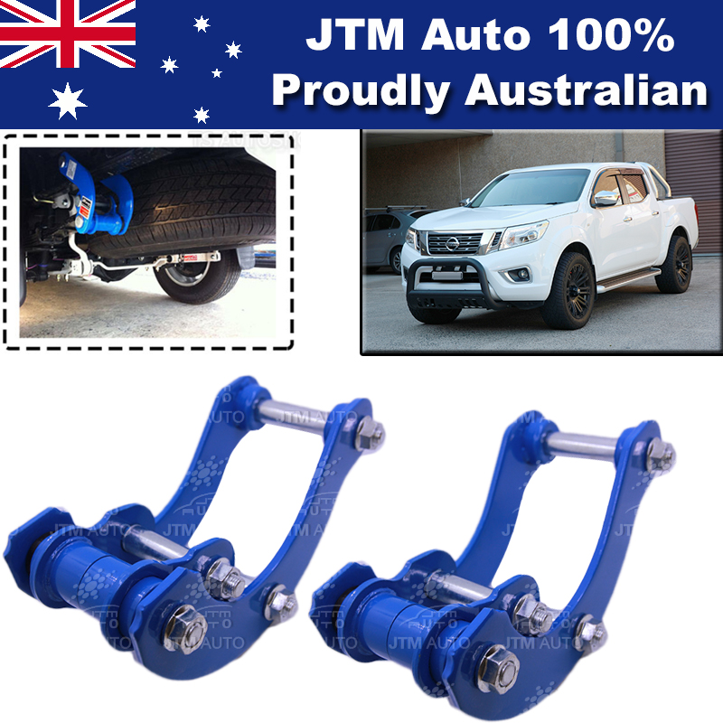 Lift Kit Strut Front Spacers + Rear G-Shackle to suit Nissan Navara NP300 14-19