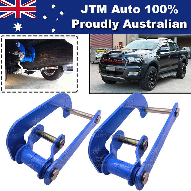 Rear Leaf Alloy Spring G Shackle Shackles to suit Ford Ranger 2012-2019