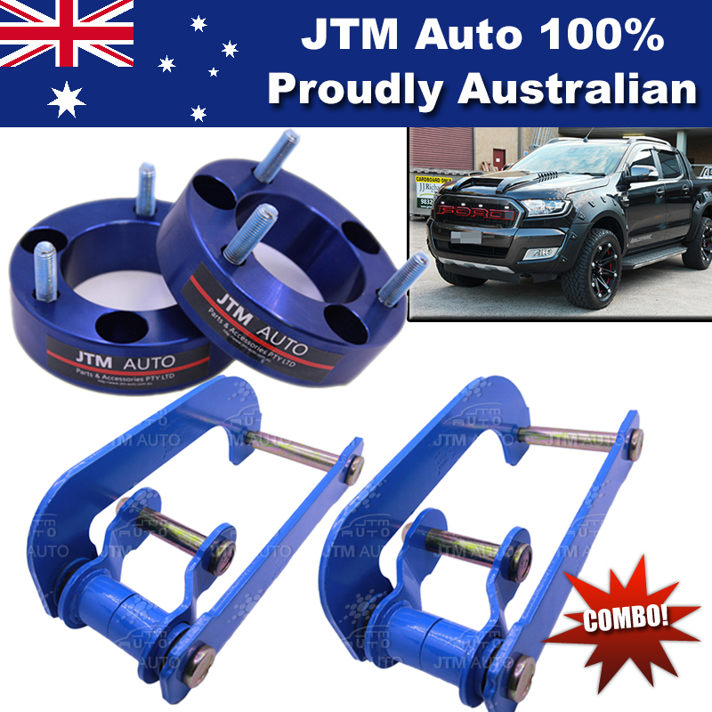 Lift Kit Strut Front Spacers + Rear G-Shackle to suit Ford Ranger 2012-2018