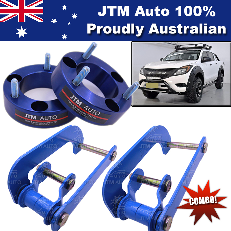 Lift Kit Strut Front Spacers + Rear G-Shackle to suit Mazda BT-50 BT50 2012-2018