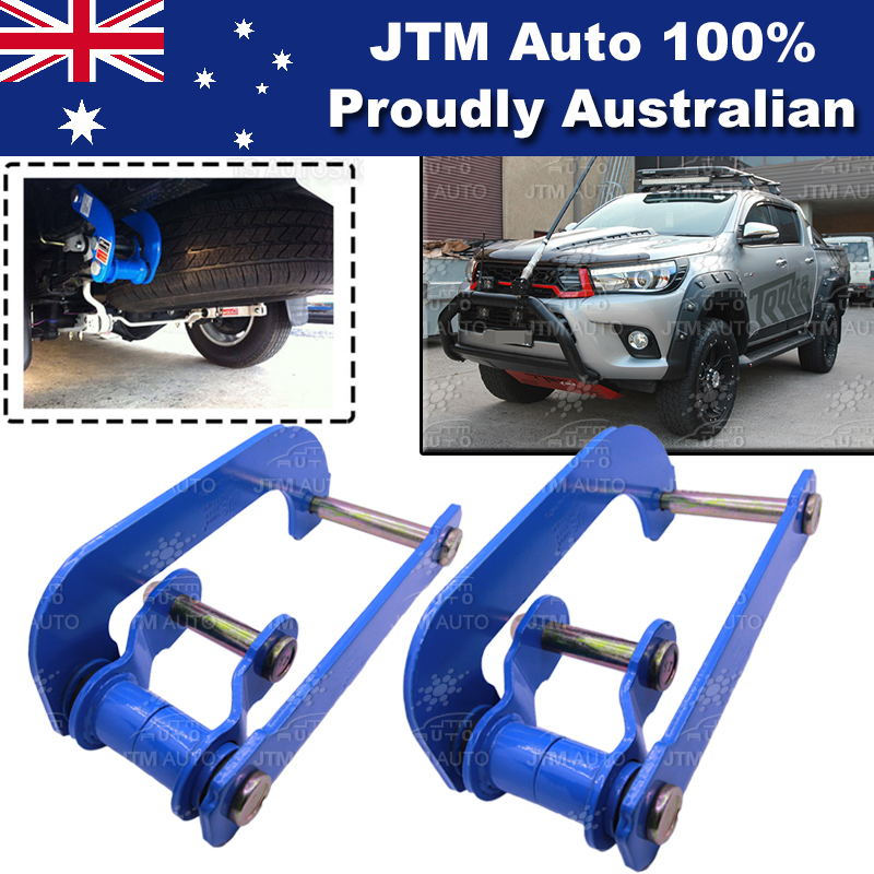 Rear Leaf Alloy Spring G Shackle Shackles to suit Toyota Hilux Revo 2015-2019