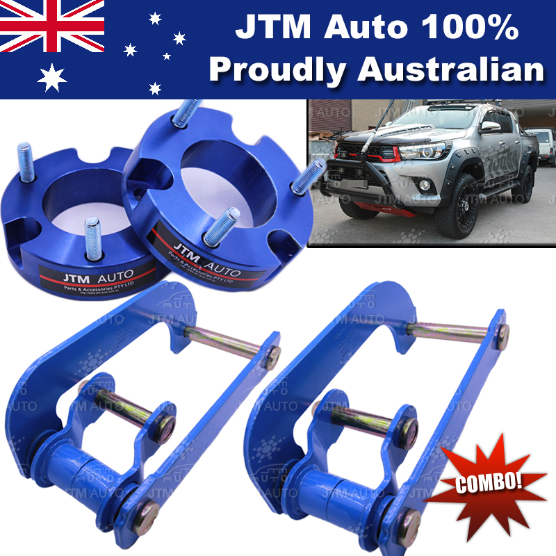 Lift Kit Strut Front Spacers + Rear G-Shackle to suit Toyota Hilux 2015-2018