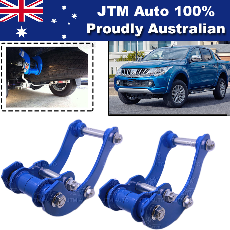 Rear Leaf Alloy Spring G Shackles to suit Mitsubishi Triton MQ MR 2015-2019