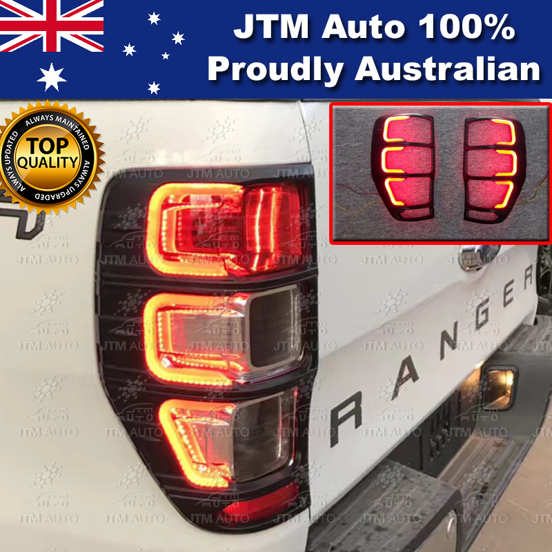 For Ford Ranger PX PX2 PX3 Black LED Tail Light Trim Cover 2012-2019