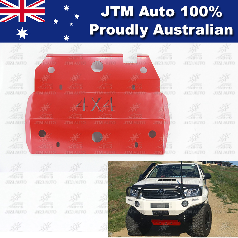 Bash Plate Front Sump Guard Red Protection to suit Toyota Hilux 2005-2014