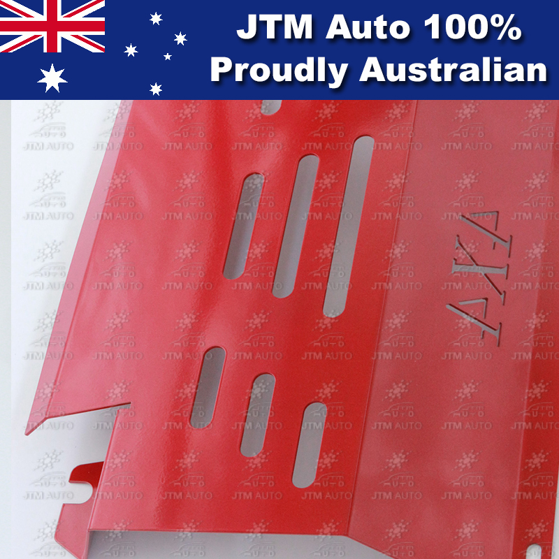 Bash Plate Front Sump Guard Red Protection For Mitsubishi Triton MN ML 2005-2014