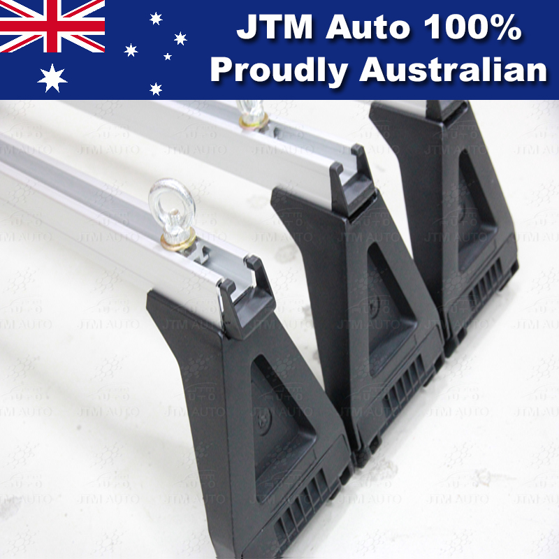 3 X HEAVY DUTY ADJUSTABLE ROOF RACKS to suit Toyota Hiace SLWB 2005-2018
