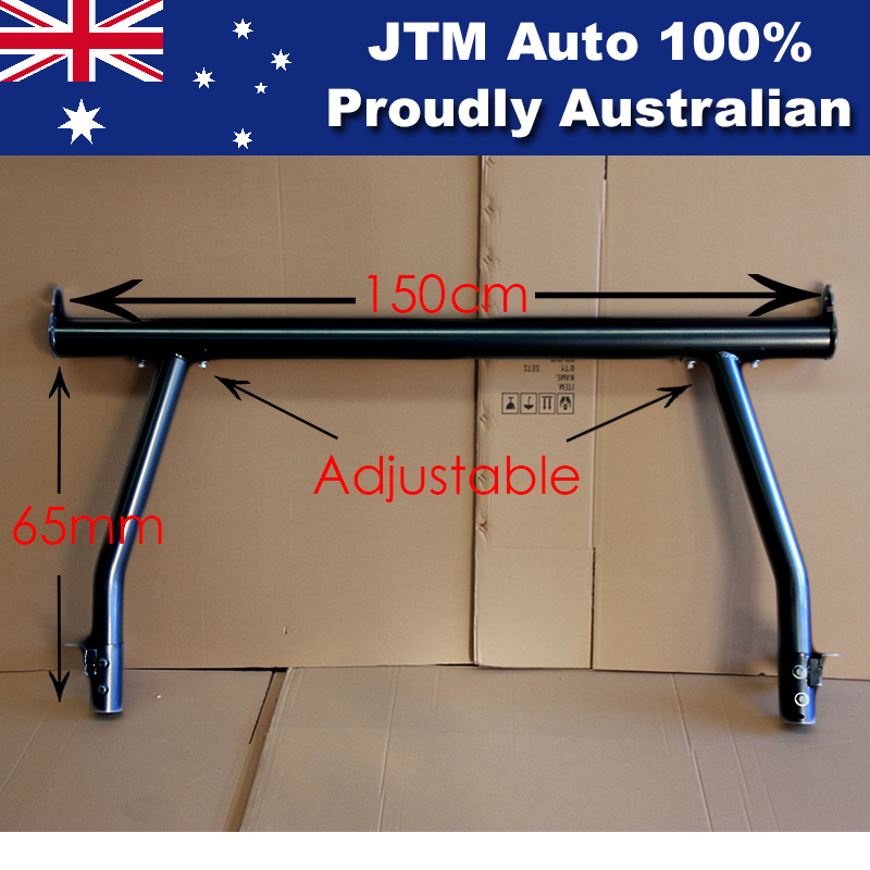 Universal Black Aluminium Alloy Adjustable Ladder Racks for UTE Tub Body