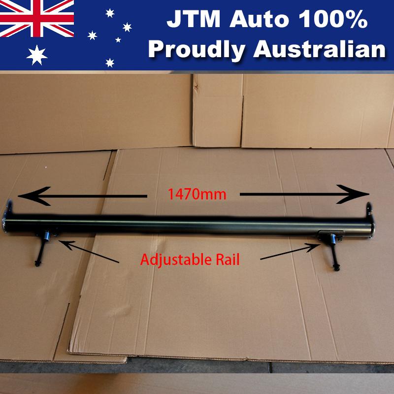 Universal Black Aluminium Alloy Adjustable Ladder Rack/Sports Bar Extension Bar