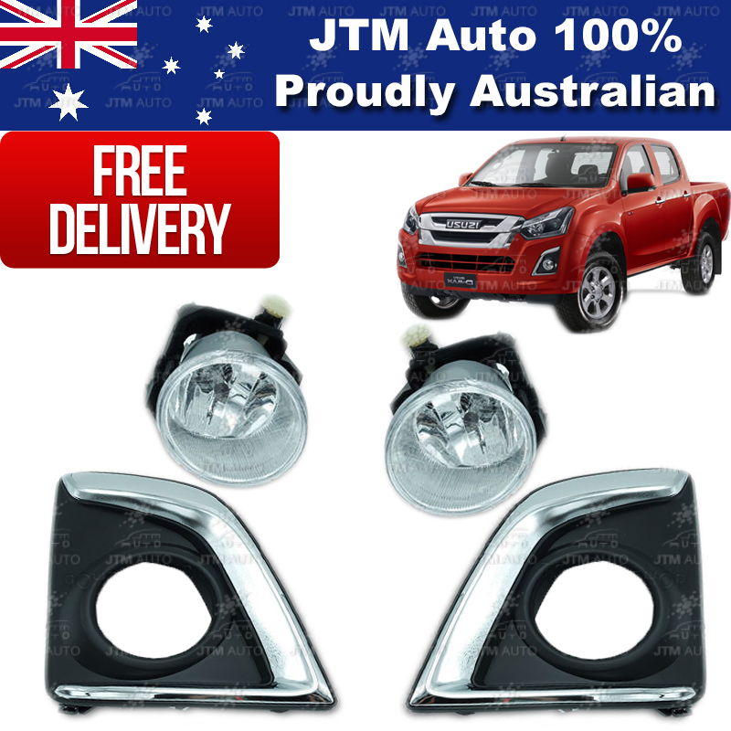 Driving/ Fog Lights Lamps Complete Kit to suit ISUZU D-Max Dmax 2017-2018