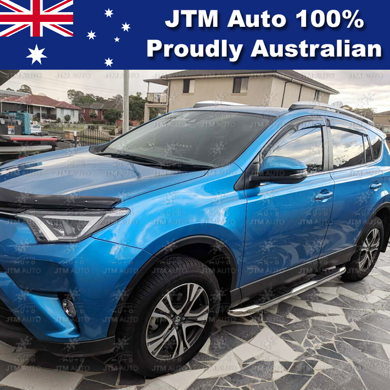 "Side Steps Running Boards 3"" Stainless Steel to suit Toyota RAV4 2013-2018 Feb"