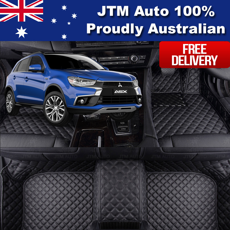 Custom Made Leather Floor Mats Front + Rear for Mitsubishi ASX 2010-2018