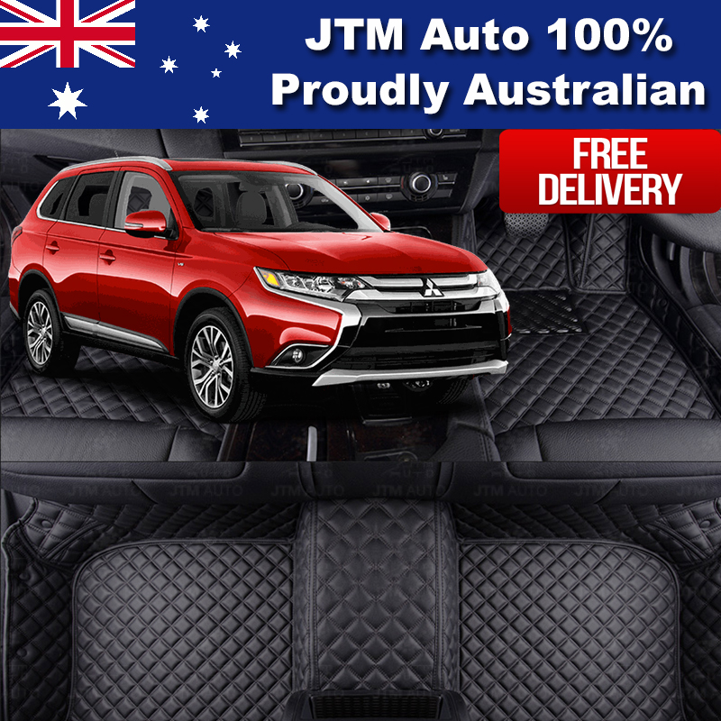 Custom Made Leather Floor Mats Front + Rear for Mitsubishi Outlander 2013-2018