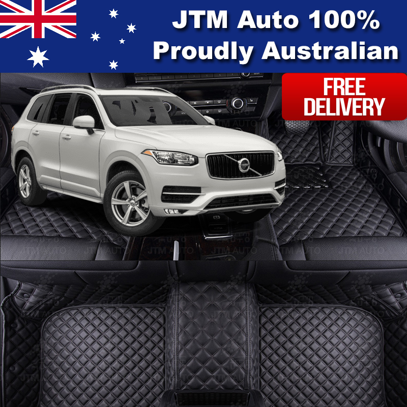 Custom Made Leather Floor Mats Front Rear To Suit Volvo
