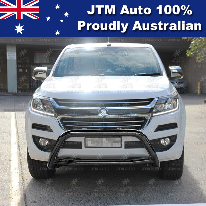 "Sensor Compliant 3"" Black Nudge Bar Grille Guard for Holden Colorado 2016-2018"