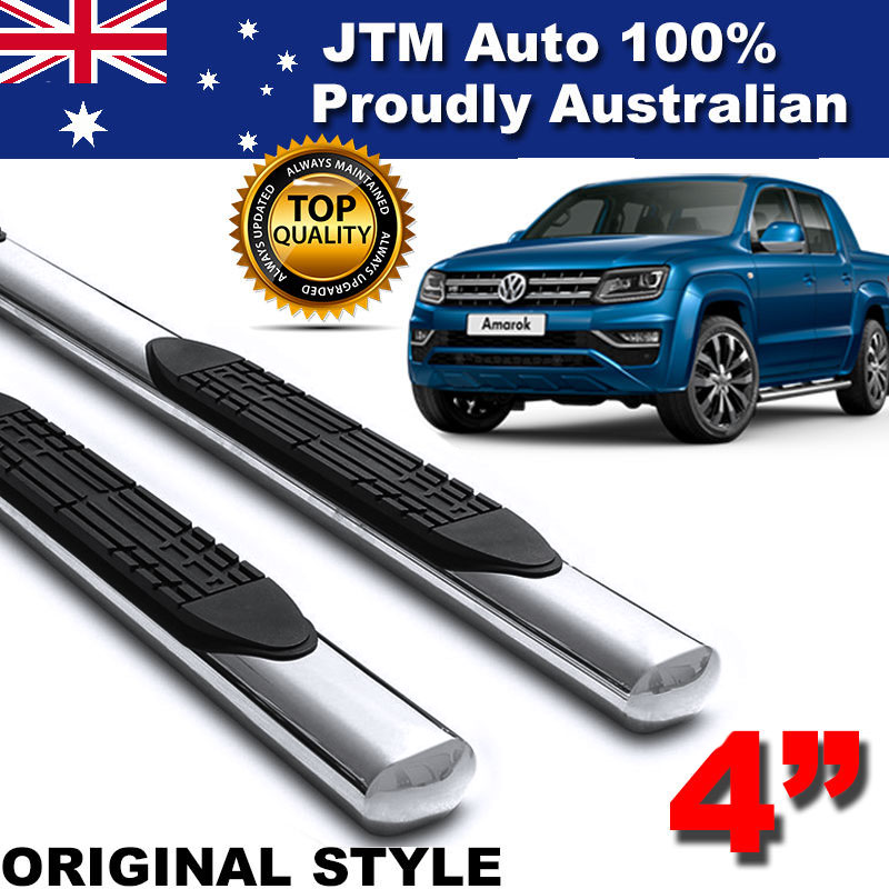 "Suits Volkswagen VW Amarok 4"" Stainless Steel Side Steps Running Board 2010-2018"