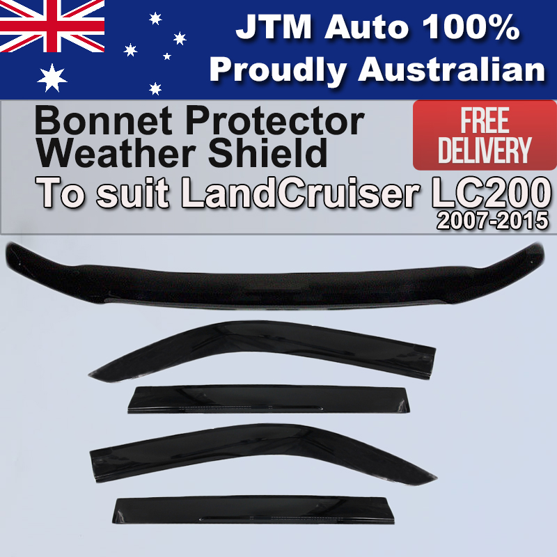 Bonnet Protector + Weathershield to suit Toyota Landcruiser 200 Series 2008-2015
