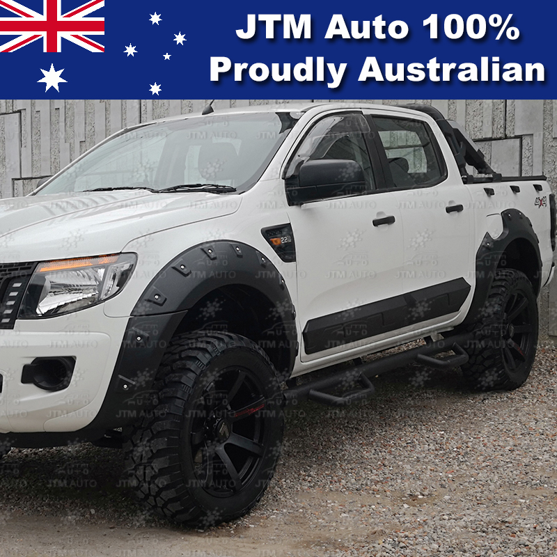 "Black Steel 3"" Side Step Running Board to suit Ford Ranger PX PX2 PX3 2012-2018"
