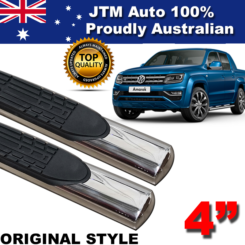 "Suits Volkswagen VW Amarok 4"" Stainless Steel Side Steps Running Board 2010-2018"