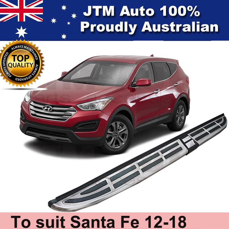 Aluminium Side Steps Running Boards to suit Hyundai Santa Fe 2012-2018