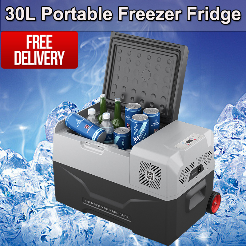Portable 30L Fridge Freezer 12V/24V/240V Camping Car Boating Caravan Bar Fridge
