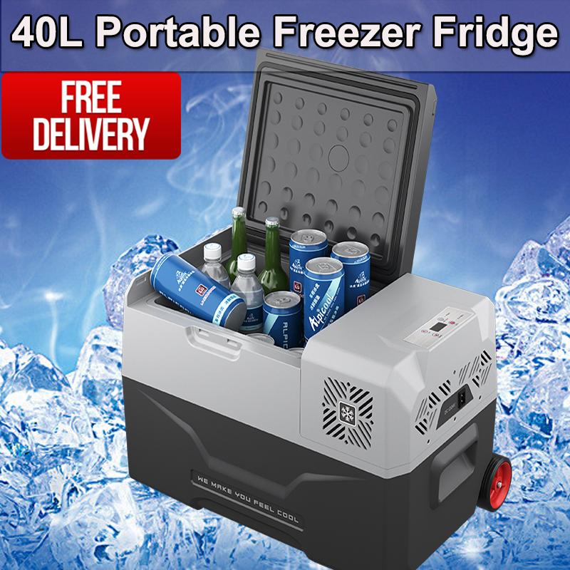Portable 40L Fridge Freezer 12V/24V/240V Camping Car Boating Caravan Bar Fridge