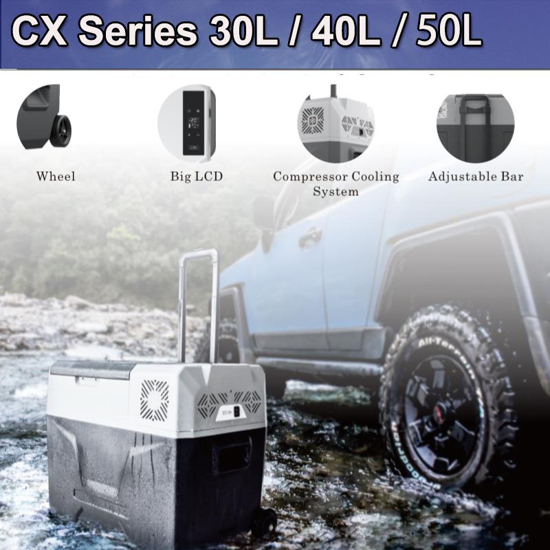 Portable 50L Fridge Freezer 12V/24V/240V Camping Car Boating Caravan Bar Fridge