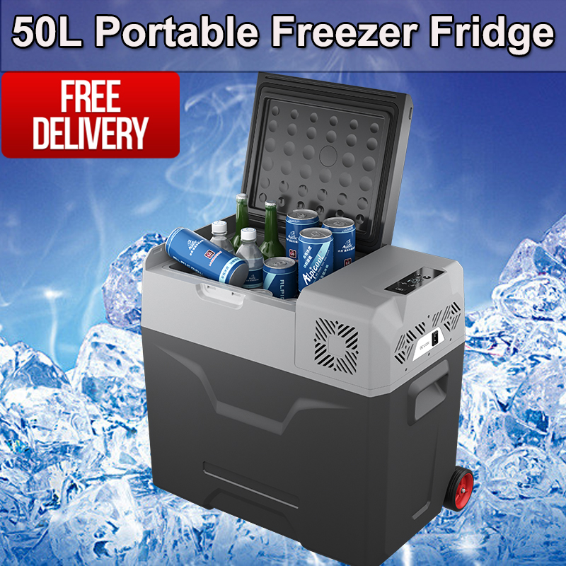 Portable 50L Fridge Freezer 12V/24V/240V Camping Car Boating Caravan Bar Fridge