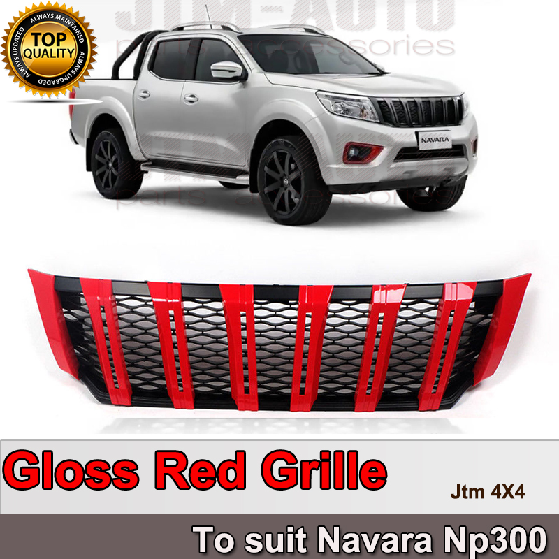 New Front Gloss Red Grill Grille to suit Nissan Navara NP300 D23 2015-2019