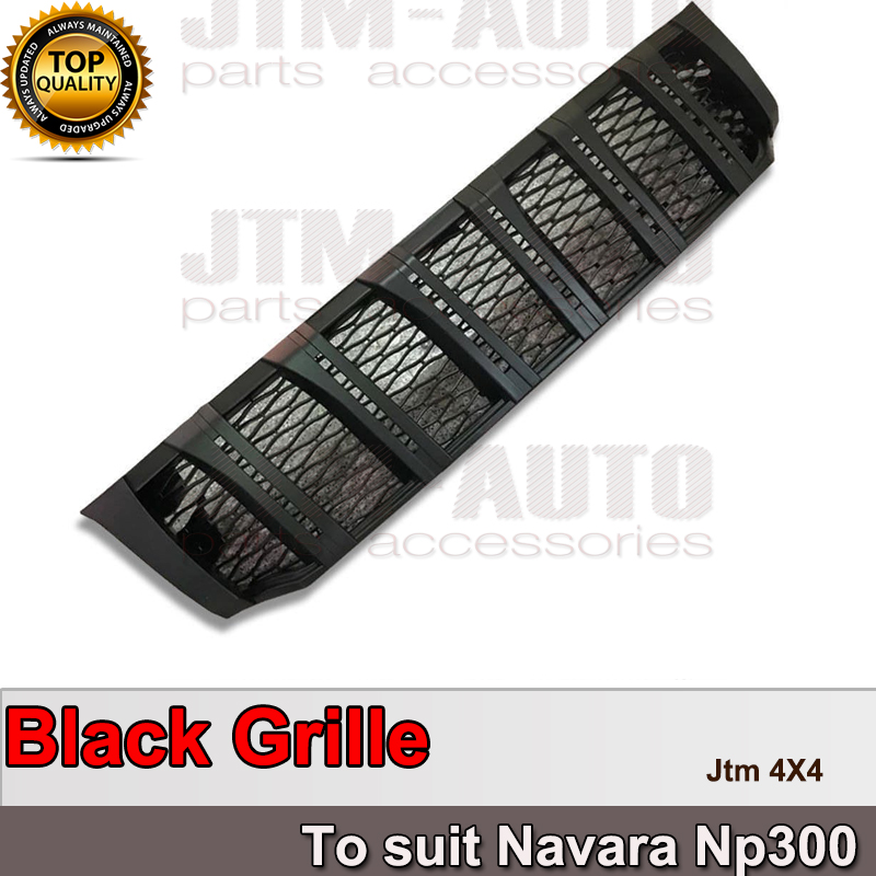 New Front Matt Black Grill Grille to suit Nissan Navara NP300 D23 2015- 2018