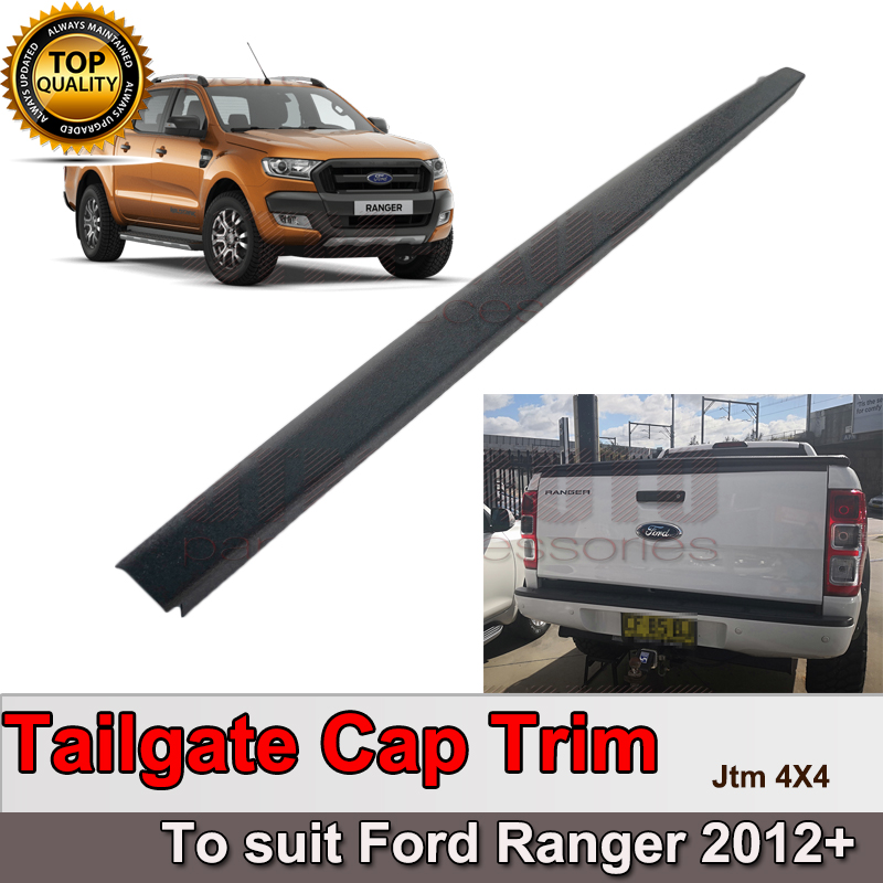 Tailgate Cap Protection Cover Trim Black to suit Ford Ranger PX PX2 PX3 2012+