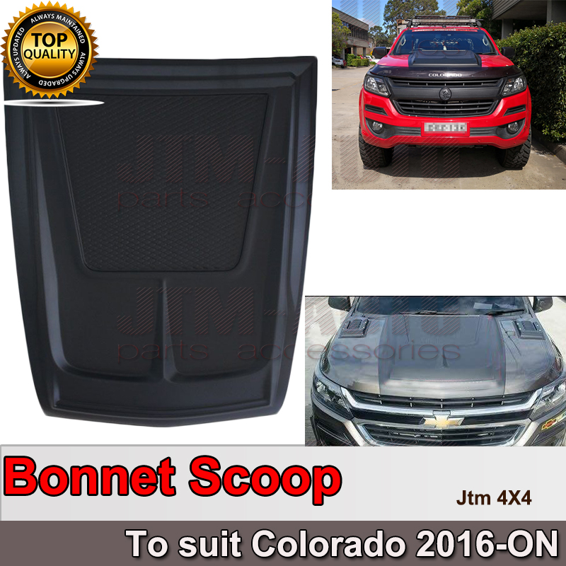 Matt Black Bonnet Scoop Hood Cover to suit Holden Colorado 2016+
