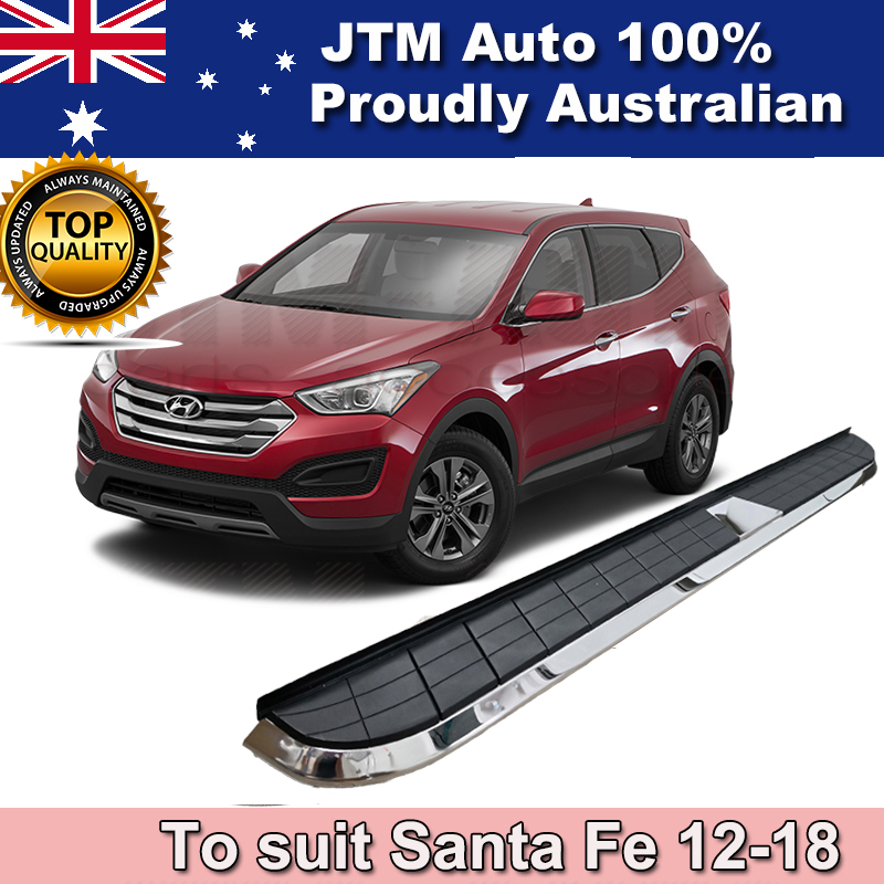 Brand New Aluminium Side Steps Running Boards to suit Hyundai Santa Fe 2012-2018