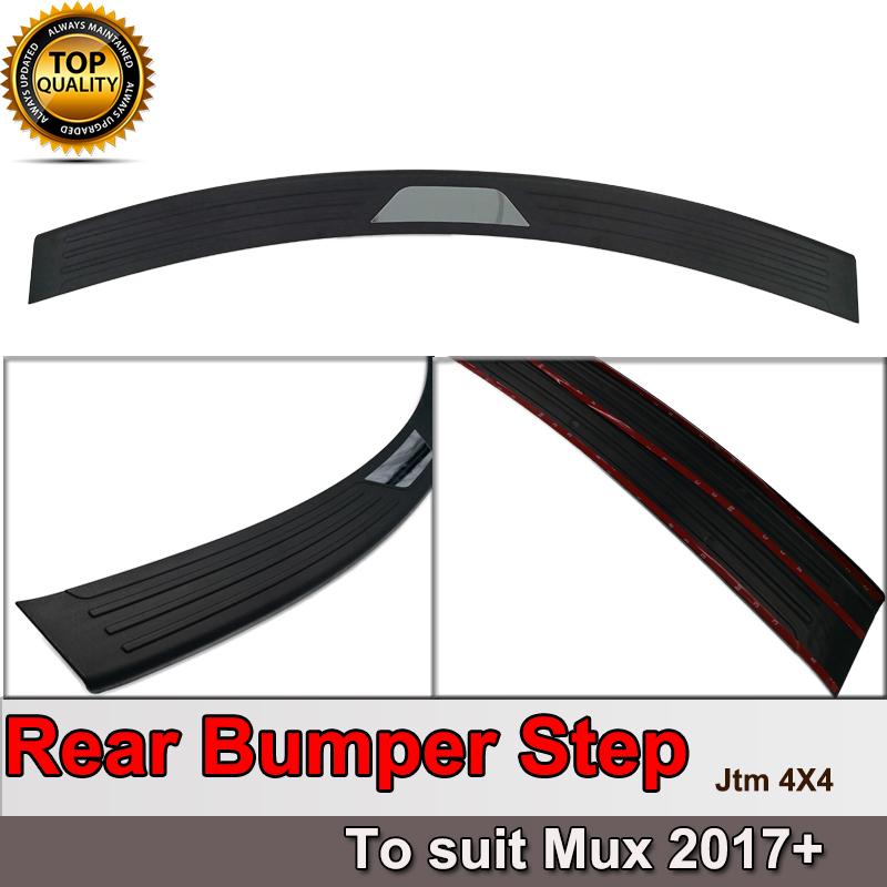 Rear Bumper Step Protector Scuff Plate Guard Plate to suit Isuzu Mux MU-X 2017+